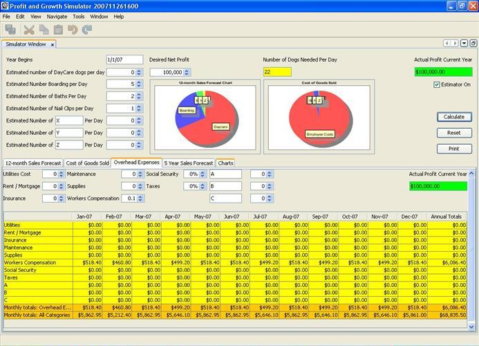 profit and loss simulator